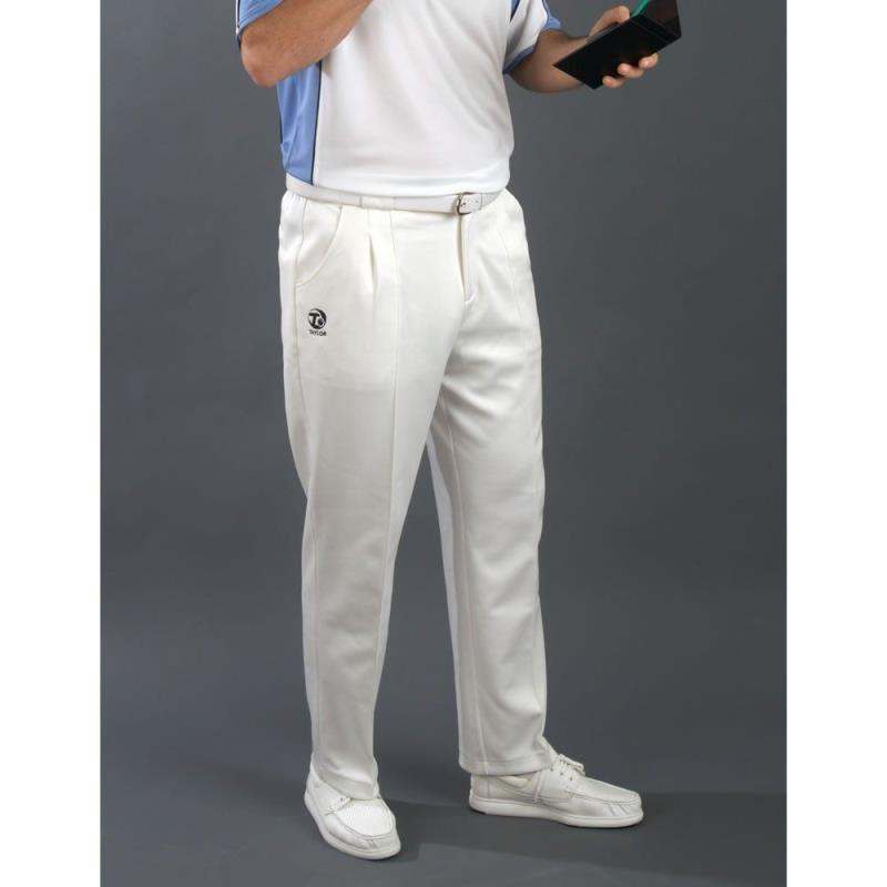 Taylor Mens White Sports Bowls Trousers